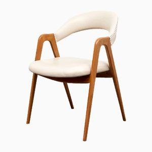 Kirschholz Stuhl mit Scherenfuß von WK Möbel, 1950er