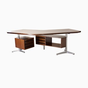 Model T96 Boomerang Desk by Osvaldo Borsani for Tecno, 1960s