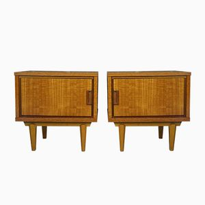 Scandinavian Bedside Tables, 1960s, Set of 2