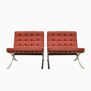 Barcelona Stühle von Mies Van Der Rohe für Knoll International, 1980er, 2er Set
