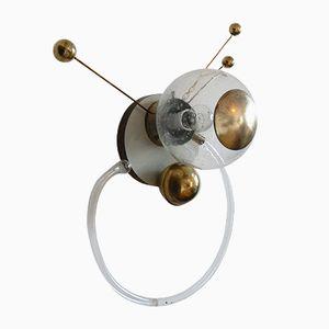 Glass Sputnik Wall Lamps, 1960s, Set of 2