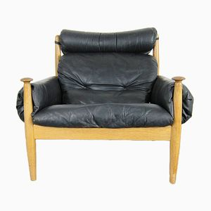 Leather Lounge Chair from Profilia, 1960s