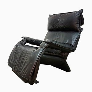 Leather Reclining Lounge Chair by Percival Lafer, 1970s