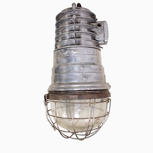 Polish Industrial Aluminum Warehouse Light, 1950s