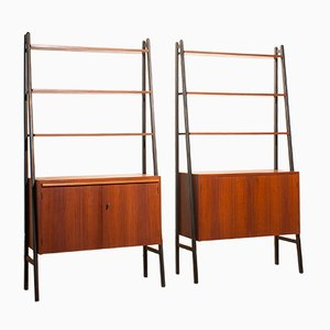 Shelving Units, 1950s, Set of 2