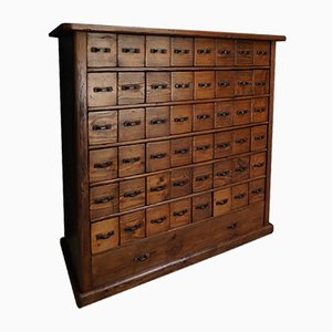 Vintage French Pine Apothecary Cabinet, 1930s