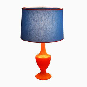 Mid-Century Orange Glass Table Lamp, 1960s