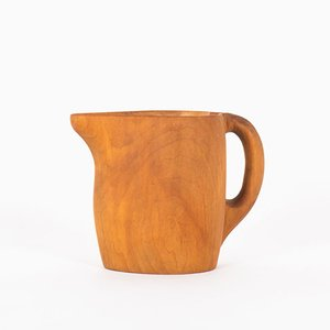 Mid-Century Free Form Sycamore Pitcher, 1950s