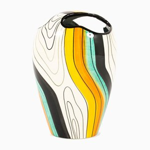 Colorful Ceramic Vase, 1960s