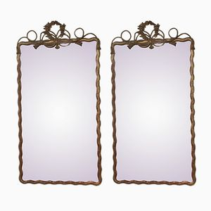 Antique Napoleon III Giltwood Mirrors, Set of 2