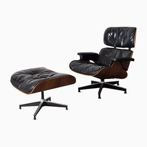 First Edition Lounge Chair and Ottoman by Charles & Ray Eames for Herman Miller, 1956