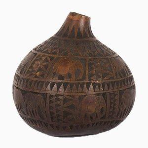 Decorative Wooden Vase, 1950s