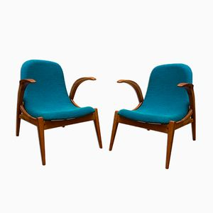 Small Bentwood Armchairs, 1970s, Set of 2