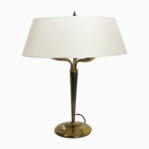 Large Brass Table Lamp by Emilio Lancia, 1940s