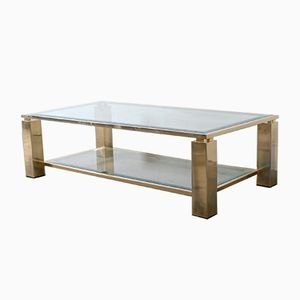 23-Carat Gold Plated Coffee Table from Belgo Chrom