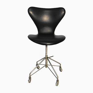 Vintage Series 7 Swivel Chair by Arne Jacobsen for Fritz Hansen