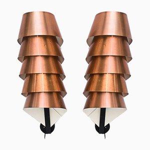 Copper Sconces by Hans-Agne Jakobsson, 1960s, Set of 2
