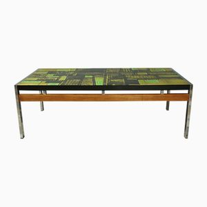 Ceramic Tile Coffee Table by Perrine Vigneron, 1950s