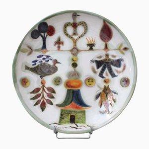 Ceramic Platter by David Sol, 1970s