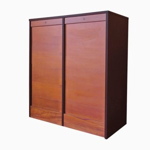 Danish Teak Sliding Door Cabinet, 1960s