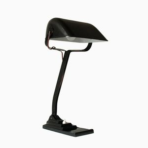 Vintage Belgian Banker's Table Lamp from Erpe