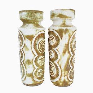 Ceramic German Vases from Bay Keramik, 1970s, Set of 2