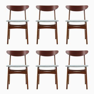 Teak Chairs from Fastrup, 1960s, Set of 6
