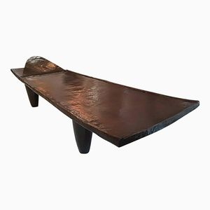 19th-Century Senoufo Wooden Bench