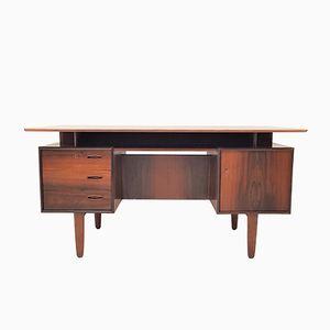 Mid-Century Modern Brazilian Rosewood Freestanding Desk, 1960s