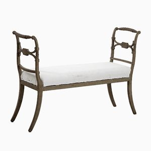 Antique Freestanding Gustavian Bench