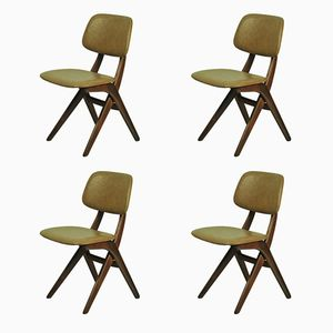 Dutch Side Chairs by Louis van Teeffelen for WéBé, 1960s, Set of 4