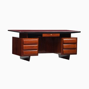 Vintage Rosewood Lacquered Desk by Vittorio Dassi