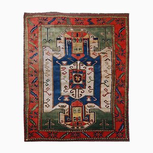Vintage Handmade Caucasian Kazak Rug, 1960s