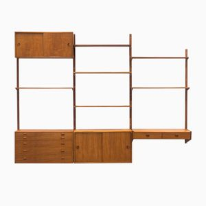 Wall Unit by Rud Thygesen & Johnny Sørensen for Hansen & Guldborg, 1950s