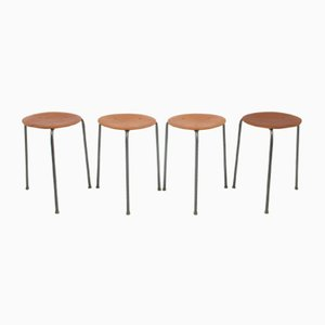 Teak Stools, 1960s, Set of 4