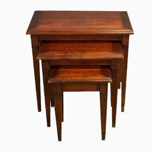 Vintage Nesting Tables in Cherry
