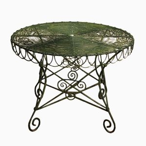 Early-20th Century Wirework Garden Table