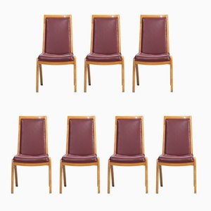 Vintage Austrian Dining Chairs, Set of 7