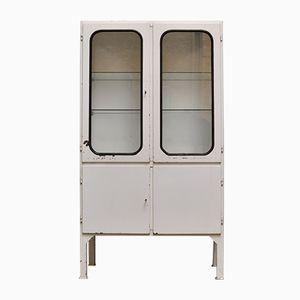 Vintage Glass & Iron Medicine Cabinet, 1970s