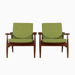 Vintage Armchairs in Teak by Finn Juhl for France & Daverkosen, Set of 2