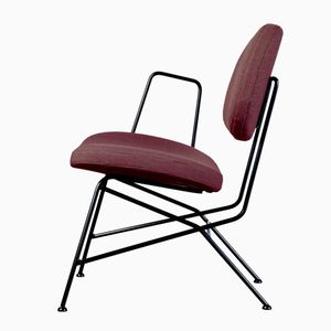 40+10 Lounge Chair in Plum by Maurizio Navone
