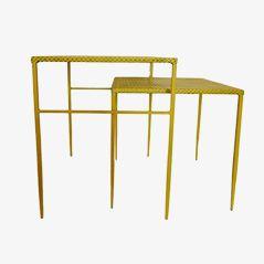 vintage franz sische bank aus metall 1950er bei pamono kaufen. Black Bedroom Furniture Sets. Home Design Ideas