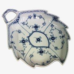 No. 143 Leaf Shaped Cake Dish by Arnold Krog for Royal Copenhagen