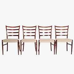 Rosewood Dining Chairs by V. S. Andersen for SVA Furniture, Set of 8