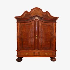 Antique German Baroque Cupboard in Oak and Walnut, 1740