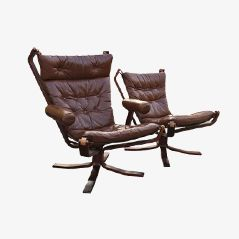 Falcon Chairs by Sigurd Ressell, Set of 2