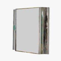Vintage Brass & Steel Mirror