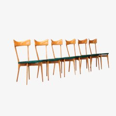 Birch Dining Chairs by Ico Parisi, Set of 6