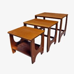 Mid-Century British Teak Nesting Tables, 1960s, Set of 3