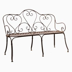 Hand-Crafted Garden Bench in Iron, 1860s
